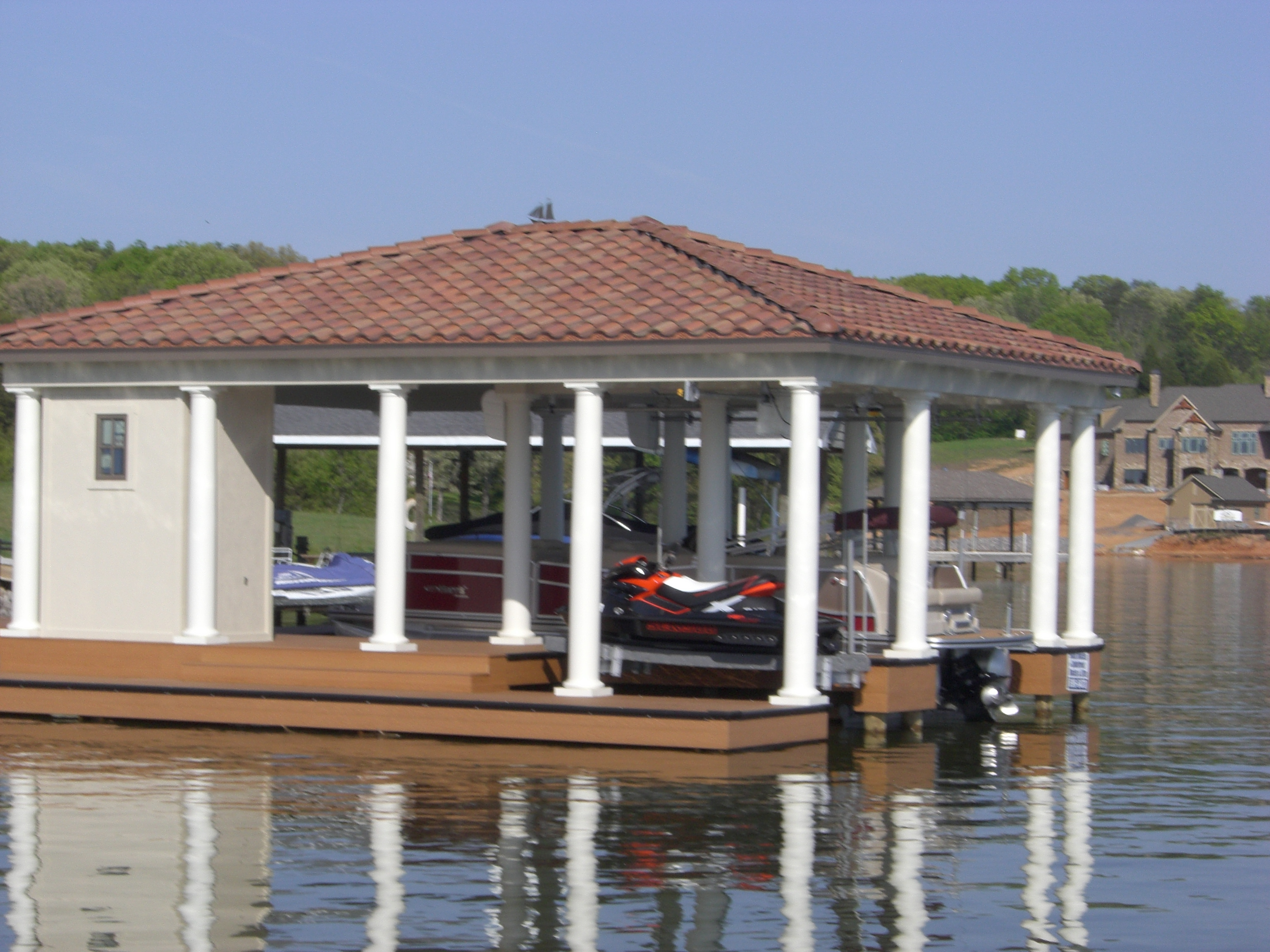 Timotty guide boat dock house plans for Boat house plans pictures